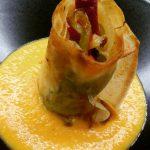 Crujiente de Verduritas con Crema de Zanahoria